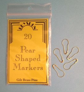 Bryson Pear Shaped Stitch Markers - Gilt Brass-Stitch Marker-