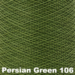 3/2 Mercerized Perle Cotton-Weaving Cones-Persian Green 106-