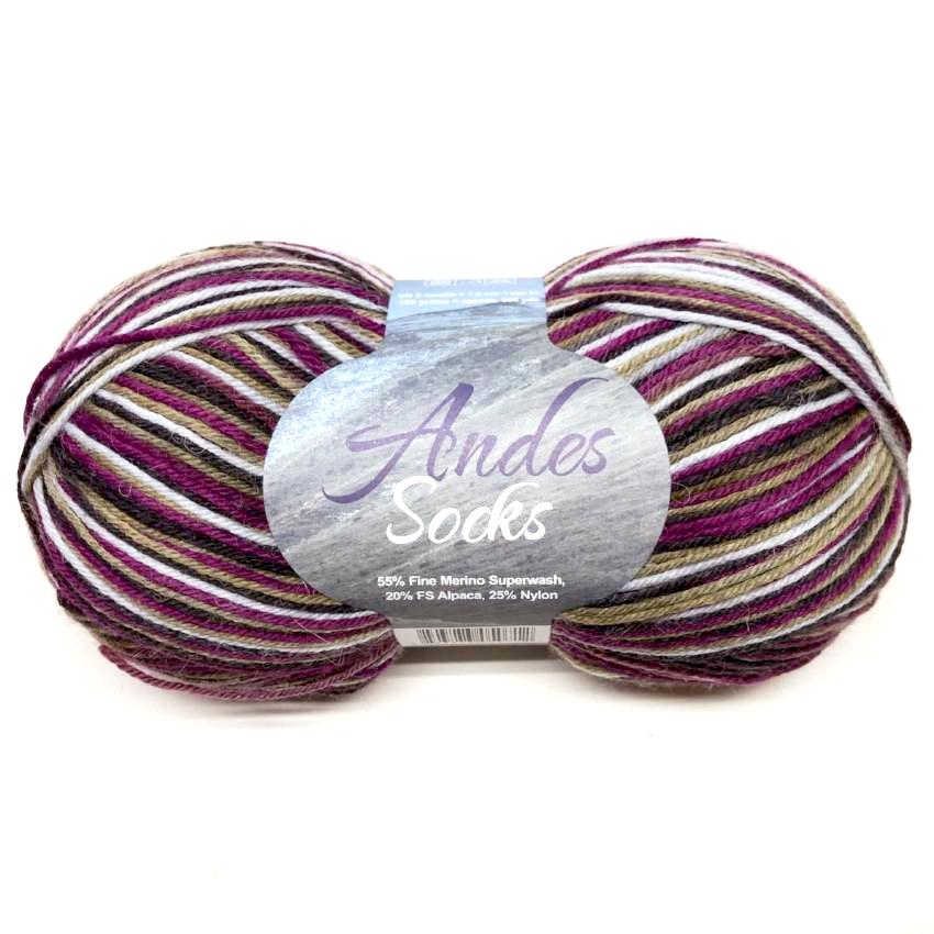 Plymouth Andes Sock Yarn - Vineyard Mix-Yarn-Paradise Fibers