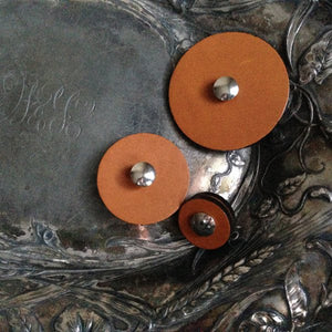 Jul Designs Leather Pedestal Button - Small-Button-
