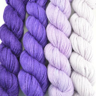 Paradise Fibers Yarn Artyarns Merino Cloud Gradient Kit Purples - 5