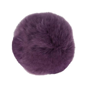 "Rabbit Fur Pom Poms 3"" - Purple-Accessories-Paradise Fibers"