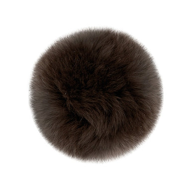 "Rabbit Fur Pom Poms 3"" - Brown-Accessories-Paradise Fibers"