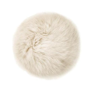 "Rabbit Fur Pom Poms 3"" - Ivory-Accessories-Paradise Fibers"