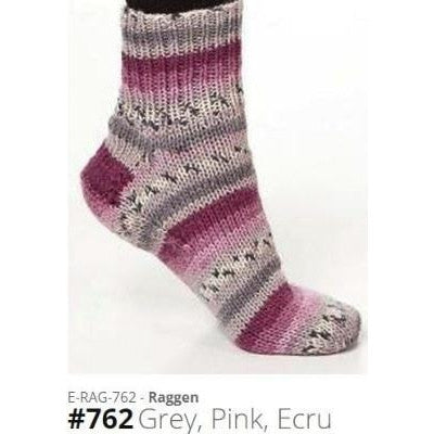 Viking of Norway Raggen Yarn Grey Pink Ecru 762 - 10