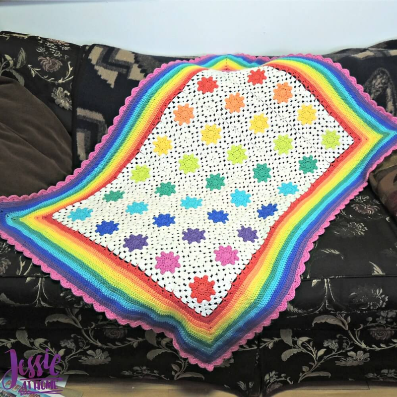 Rainbow Droplets Babyghan Pattern by Jessie Rayot-Patterns-Paradise Fibers
