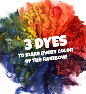 Ashford Acid Dye Rainbow Collection-Dyes-3x 10g-