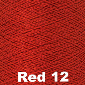 3/2 Mercerized Perle Cotton-Weaving Cones-Red 12-