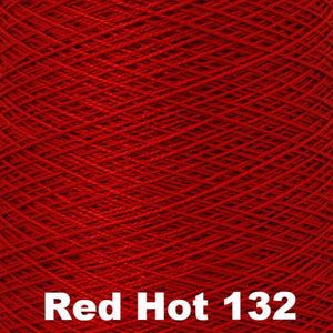 3/2 Mercerized Perle Cotton-Weaving Cones-Red Hot 132-