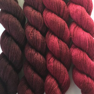 Paradise Fibers Yarn Artyarns Merino Cloud Gradient Kit Reds - 2