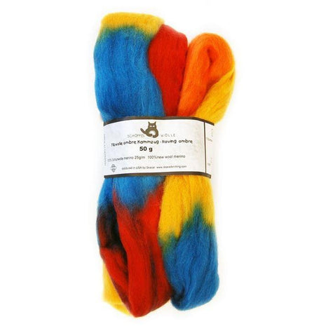 Artfelt Multi Colored Merino Standard Rovings Rich Jewels 1702 - 7