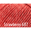 Rowan Baby Merino Silk DK Yarn Strawberry 687 - 12