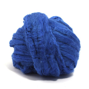 Paradise Fibers Solid Color Tussah Silk Top-Fiber-4oz-Royal-