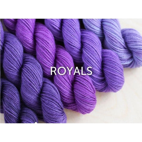 Sweet Georgia Yarns Party of Five Mini-Skein Sets Royals - 3