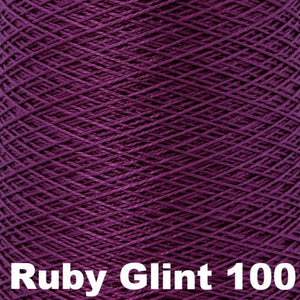 3/2 Mercerized Perle Cotton-Weaving Cones-Ruby Glint 100-