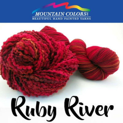 Mountain Colors Twizzlefoot Yarn Ruby River - 67