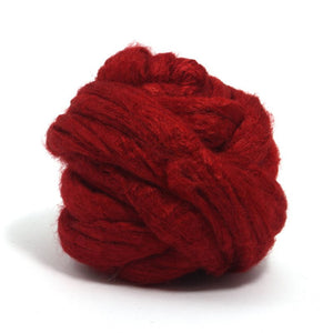 Paradise Fibers Solid Color Tussah Silk Top-Fiber-4oz-Scarlet-