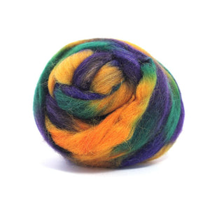 Paradise Fibers Space Dyed Wool-Fiber-Earth-4oz-