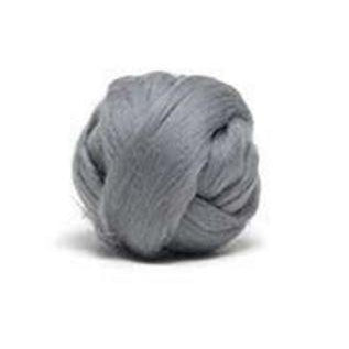 Louet Dyed Corriedale Top (1/2 lb bags) Silver Grey - 15