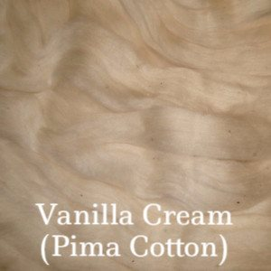 Eco Butterfly Organic Pakucho Cotton Roving Vanilla Cream - 5