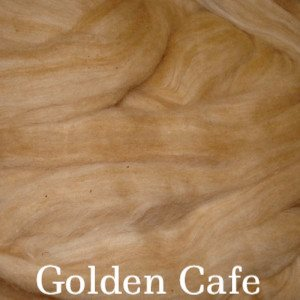 Eco Butterfly Organic Pakucho Cotton Roving Golden Cafe - 8