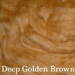 Eco Butterfly Organic Pakucho Cotton Roving Deep Golden Brown - 10