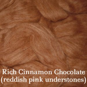 Eco Butterfly Organic Pakucho Cotton Roving Rich Cinnamon Chocolate - 14