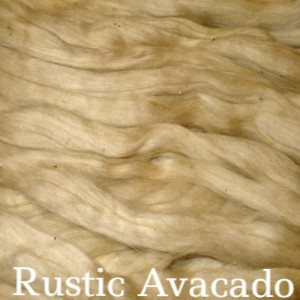 Eco Butterfly Organic Pakucho Cotton Roving Rustic Avacado - 4