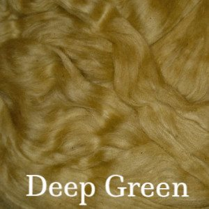 Eco Butterfly Organic Pakucho Cotton Roving Deep Green - 12