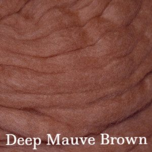 Eco Butterfly Organic Pakucho Cotton Roving Deep Mauve Brown - 2
