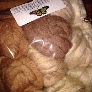 Eco Butterfly Organic Pakucho Cotton Roving  - 1