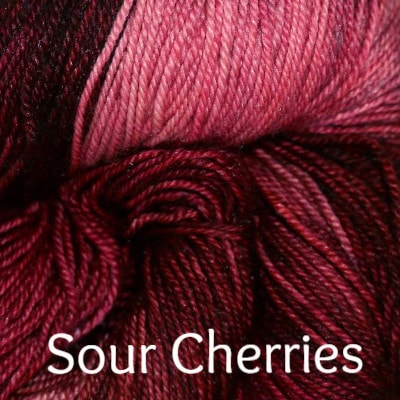Paradise Fibers Yarn Palouse Yarn Company Cashmere Squeeze Sour Cherries - 3