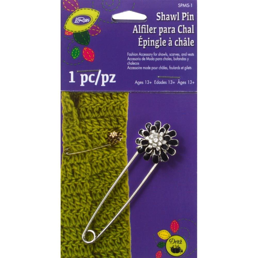 LoRan Daisy Flower Shawl Pin