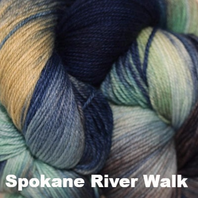 Paradise Fibers Yarn Three Irish Girls Adorn Sock Yarn Spokane River Walk - 2