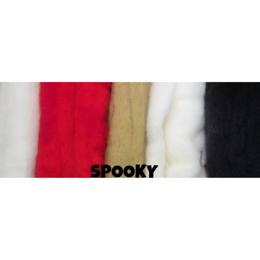 Ferndale Fiber Needle Felting Wool Multi Color Packs Spooky - 3