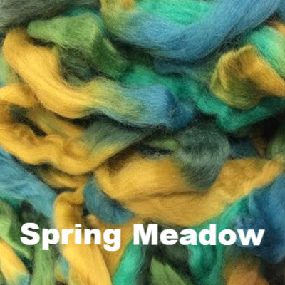Louet Northern Lights Space Dyed Wool Tops (1/2 lb bags) Spring Meadow - 20