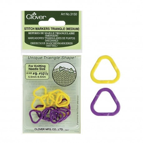 Clover Triangle Stitch Markers Medium