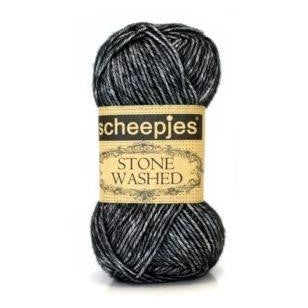 Scheepjes Stone Washed Yarn Black Onyx 803 - 3