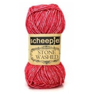 Scheepjes Stone Washed Yarn Red Jasper 807 - 7
