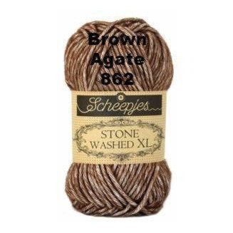 Scheepjes Stone Washed XL Yarn Brown Agate 862 - 21