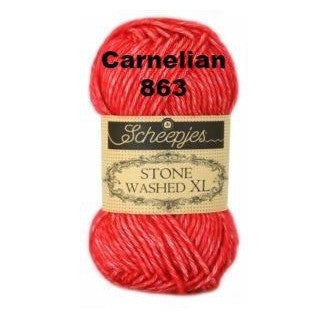 Scheepjes Stone Washed XL Yarn Carnelian 863 - 4