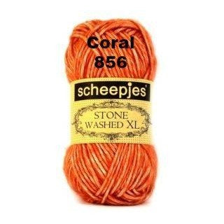 Scheepjes Stone Washed XL Yarn Coral 856 - 6