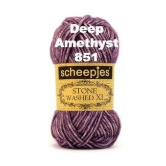 Scheepjes Stone Washed XL Yarn Deep Amethyst 851 - 11