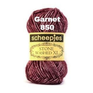 Scheepjes Stone Washed XL Yarn Garnet 850 - 10
