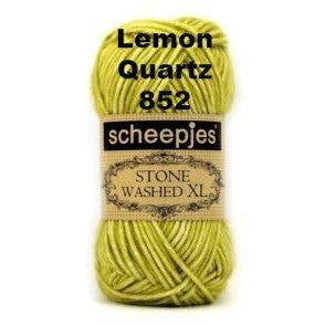 Scheepjes Stone Washed XL Yarn Lemon Quartz 852 - 16