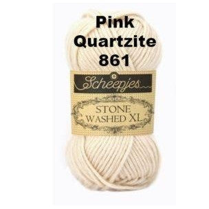 Scheepjes Stone Washed XL Yarn Pink Quartzite 861 - 15