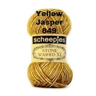 Scheepjes Stone Washed XL Yarn Yellow Jasper 849 - 12