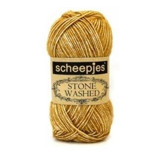 Scheepjes Stone Washed Yarn Yellow Jasper 809 - 9