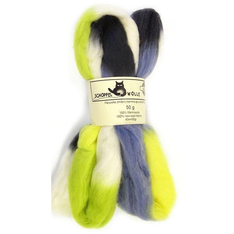 Artfelt Multi Colored Merino Standard Rovings Stormy Lime 1700 - 18