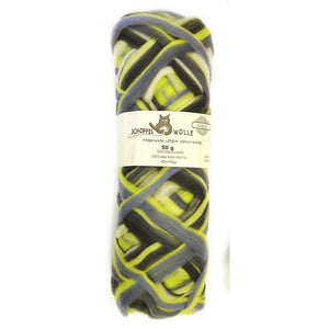 Artfelt Multi Colored Merino Pencil Rovings-Fiber-Stormy Lime 1700-